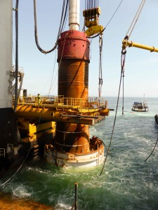 Noise mitigation in Offshore Wind Farm Butendiek